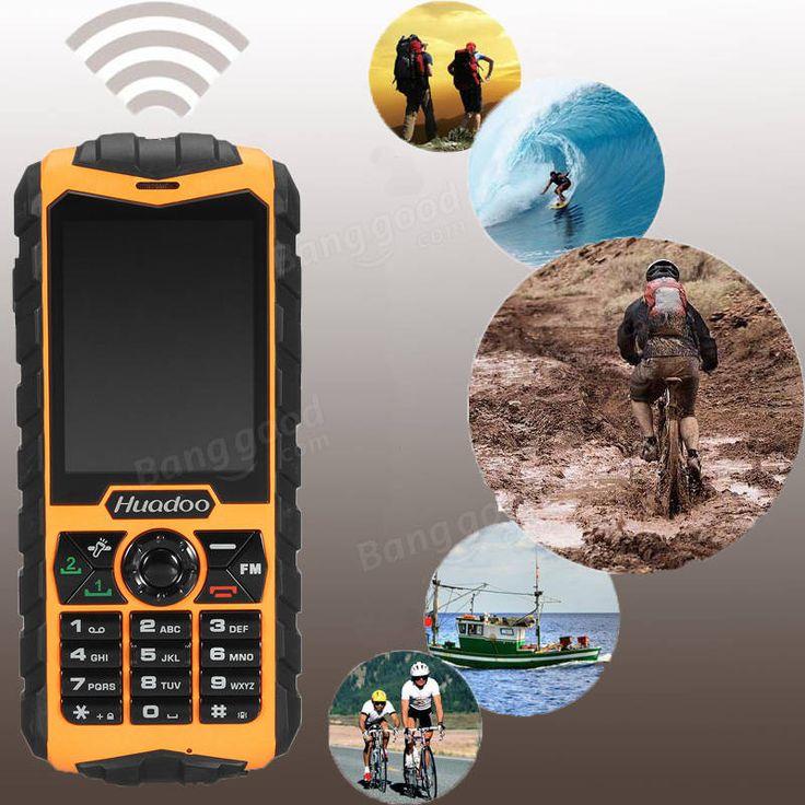 Huadoo H3L IP68 1300mAh 2.4Inch Flashlight Dual SIM Dual Standby Rugged Cell Phones