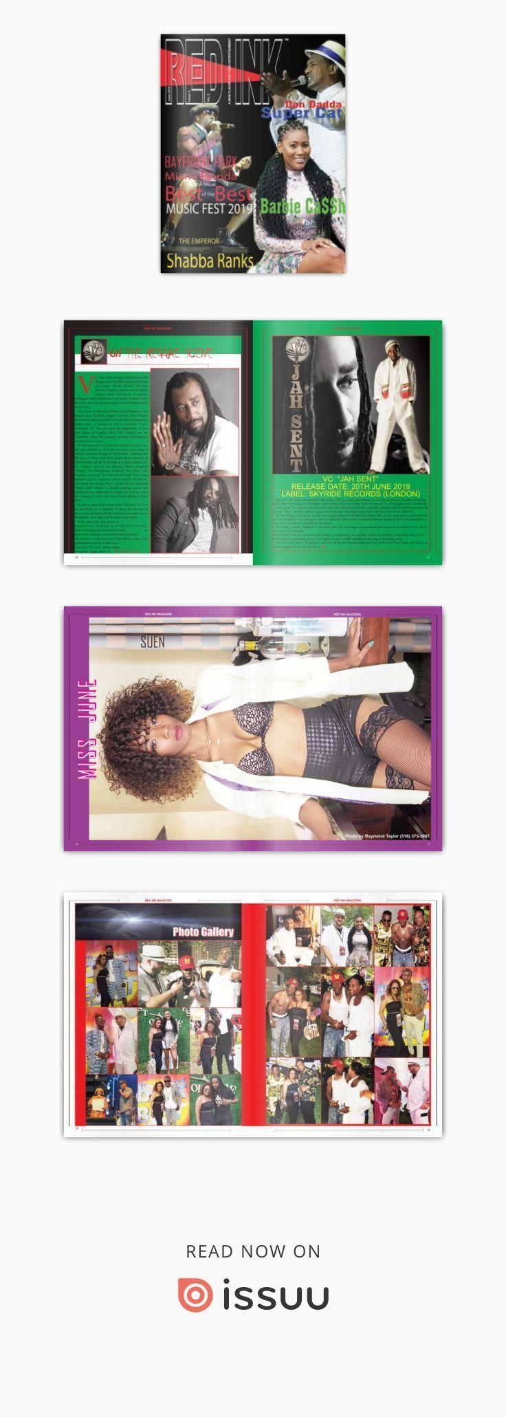 RED INK Magazine n ° 2 Juin 2019 Caribbean Entertainment, Lifestyle Magazine.   – Tattoo ink