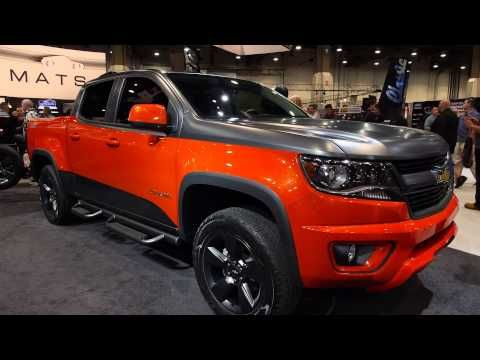 SEMA 2014 - New Chevy Colorado & Silverado Concepts & Commemorative Edition 5th Gen Camaro Unveiled - YouTube