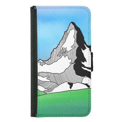 Aqua Blue Mandala Pattern Samsung Galaxy S5 Wallet Case - pattern sample design template diy cyo customize