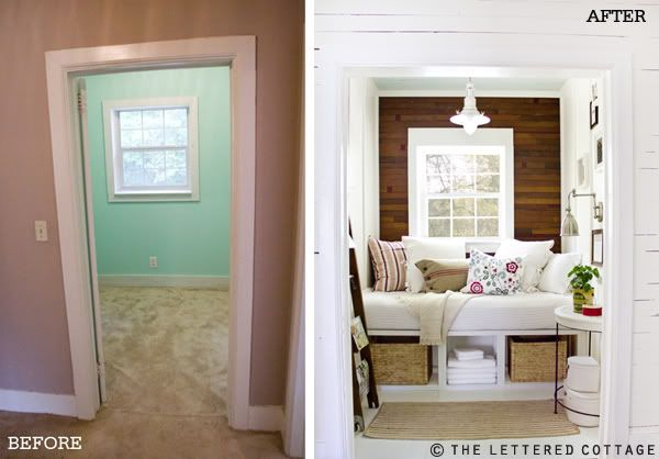 Reading room re-do...love this for a small space! I have the perfect spot