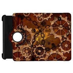 Steampunk In Rusty Metal Kindle Fire HD Flip 360 Case by FantasyWorld7