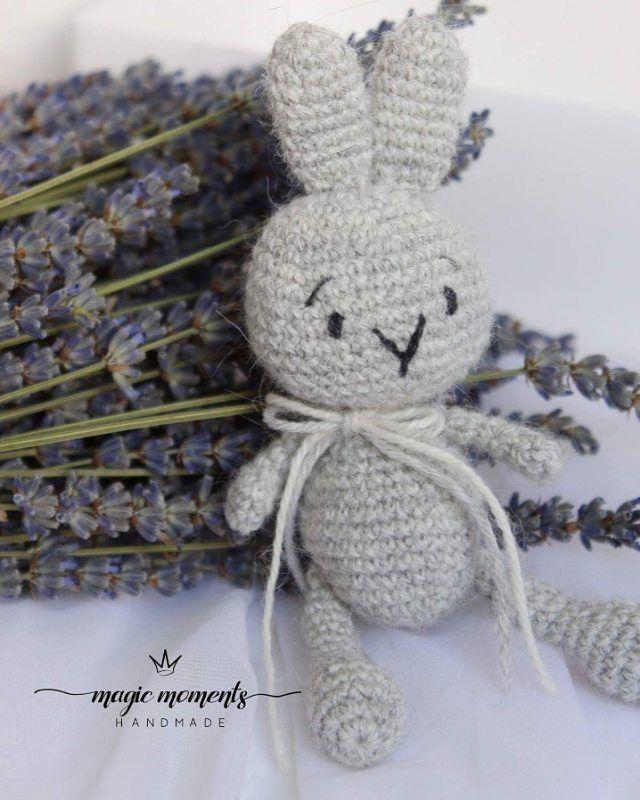 "34 Likes, 1 Comments - Renata Rogalienė (@magicmoments_handmade_lt) on Instagram: ""Crochet bunny.. 14 cm. height.. #crochet #handmadetoy #amigurumi #weamiguru #crochetbunny #bunny…"""