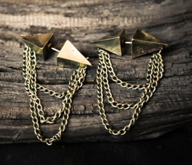 WICKED -Spike Chains Earrings Uncovet