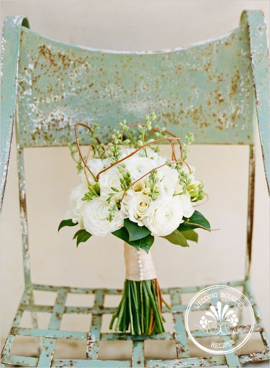 Wedding Bouquet Recipes | Ranunculus and Roses: Wedding Ideas, White Weddings, White Wedding Bouquets, Flower, Green Wedding, Floral