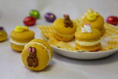 Kakkuviikarin vispailuja!: Pääsiäisen macarons-leivokset