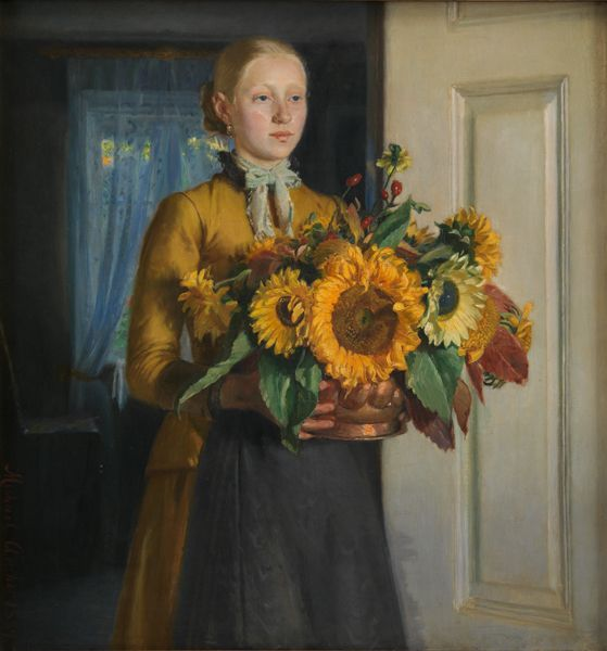 A Girl with Sunflowers | Michael Ancher | 1889 | Statens Museum for Kunst | CC0