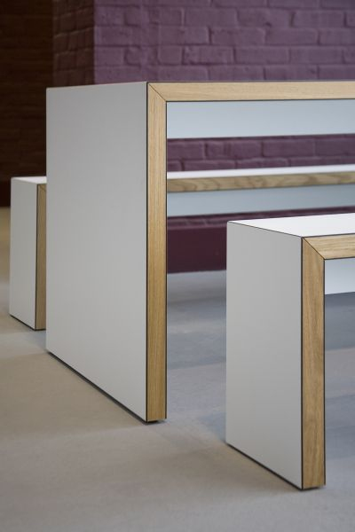 James Burleigh benches, SUSU Cafe, University of Winchester