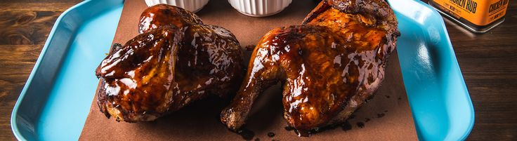 Smoked Chicken with Apricot BBQ Glaze