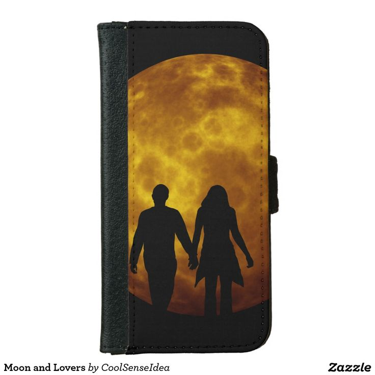 Moon and Lovers Wallet Phone Case For iPhone 6/6s