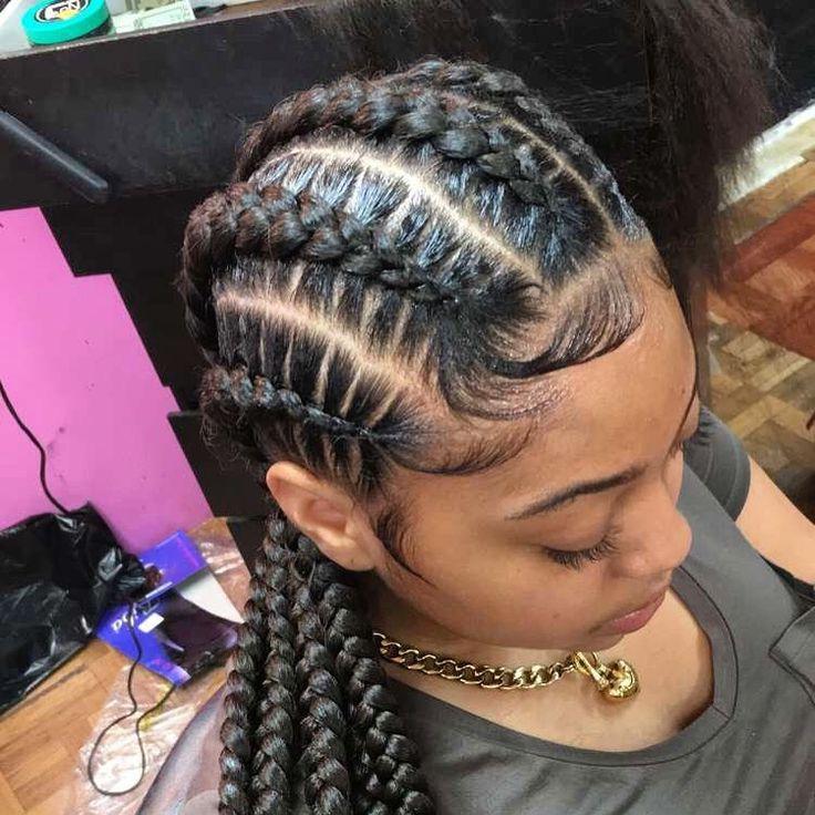 Big Braids Hairstyles Prepossessing 135 Best Hairstyles Imageslaronda Martin On Pinterest