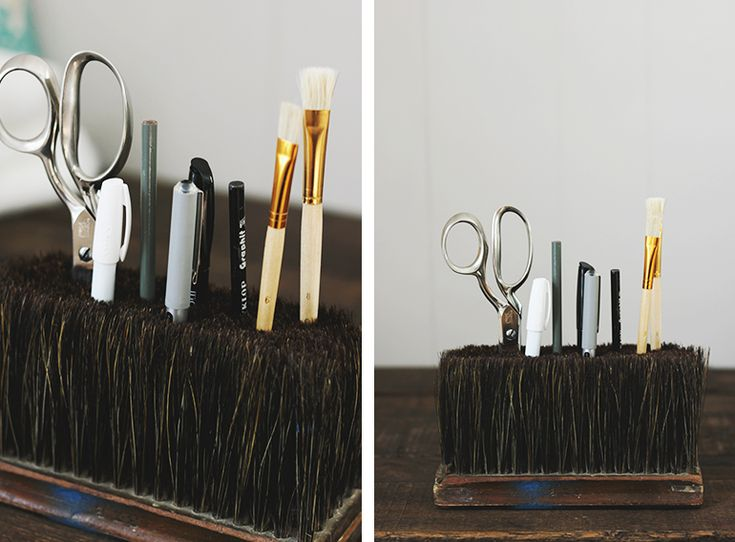 DIY Broom Head Pencil Holder @The Merrythought