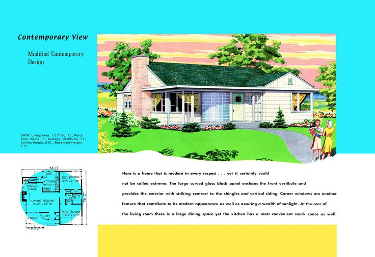 1940s and 50s house plans contemprary houses and floor for 1950s council house floor plan