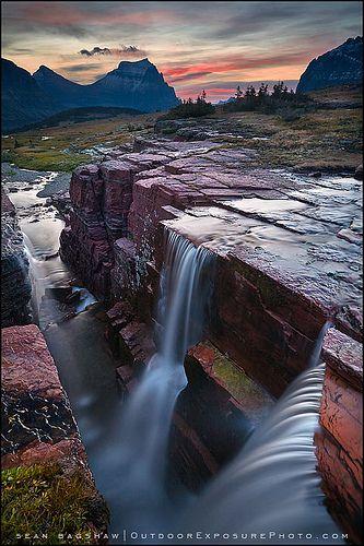 Double Falls, Glacier National Park MT | Sean Bagshaw