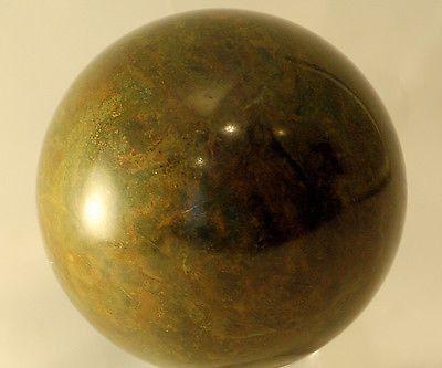 "African Green Stone - Verdite Sphere 3.4 lbs 4"" diam."