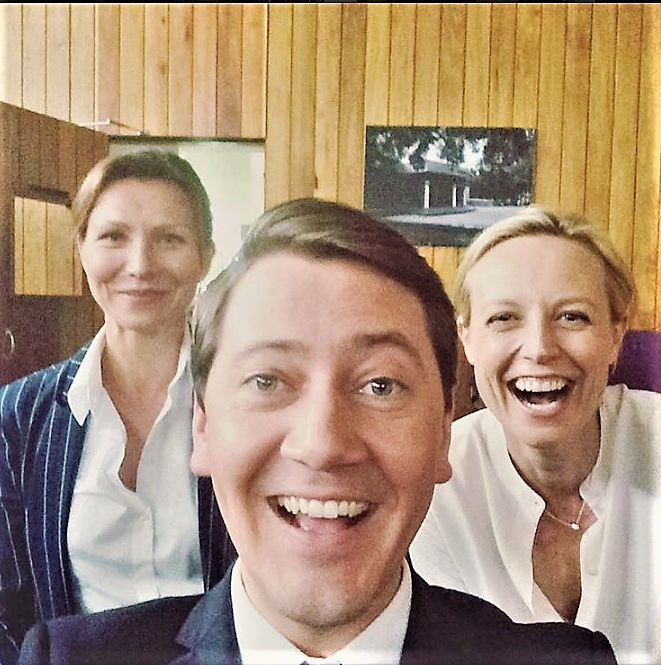 Anita Hegh, Hamish Michael and Marta Dusseldorp on the set of Janet King season 2. Bianca Grieve. Bianking.