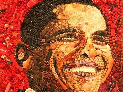 Portraits Entirely Made of Junk