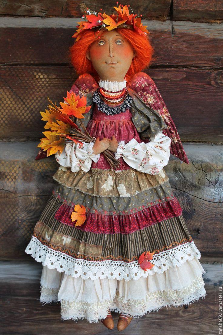 Купить Красавица Осень - комбинированный, текстильная кукла, ароматизированная…