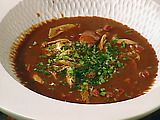 Gumbo, roux takes about twice as long as stated, add shrimp at the last five minutes.