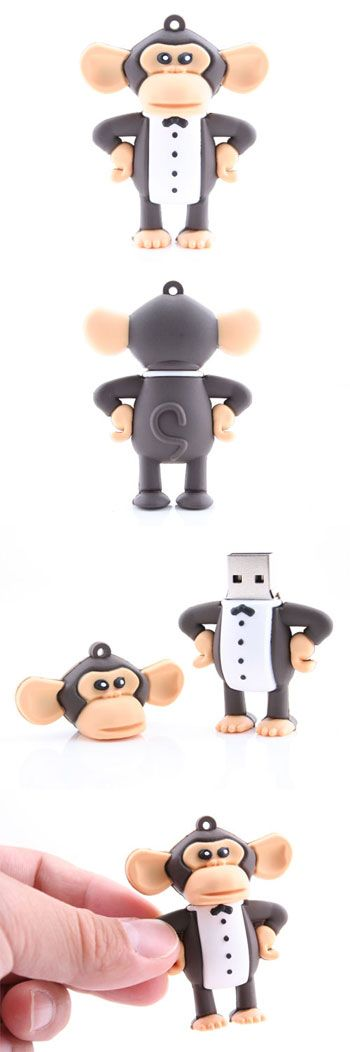 I have one of these and love him! I love Monkeys in general - so of course he is my favorite USB! Tuxedo Monkey USB Flash Drive