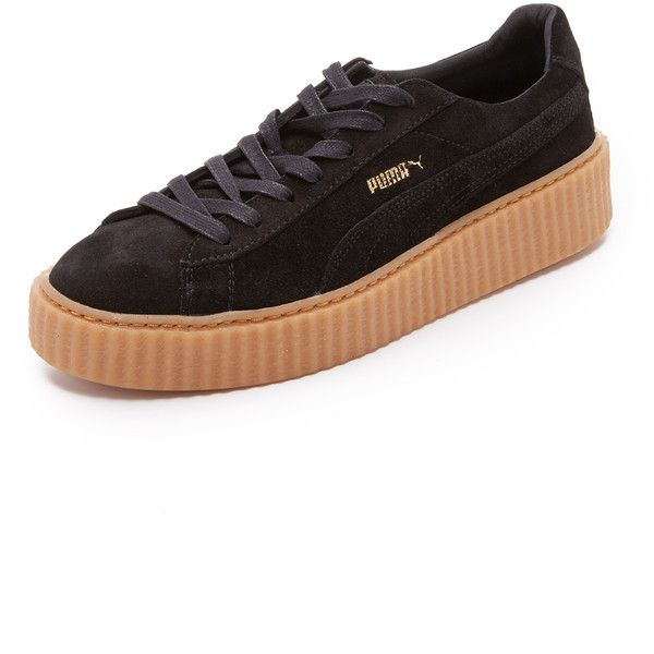 PUMA Select PUMA x Rihanna Suede Creepers (80.245 CLP) ❤ liked on Polyvore featuring men's fashion, men's shoes, mens creeper shoes, mens suede shoes and puma mens shoes