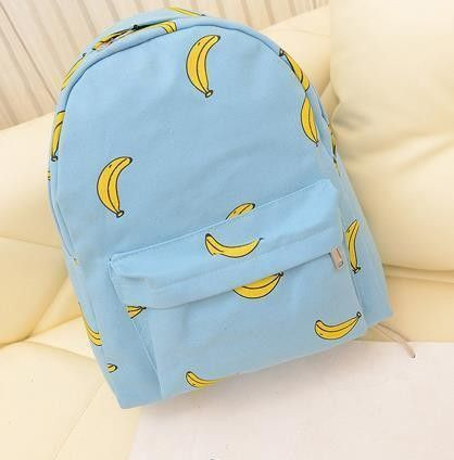BANANA POPSICLES HANDS ONION PATTERN CANVAS STUDENT BACKPACK LEISURE BACKPACK