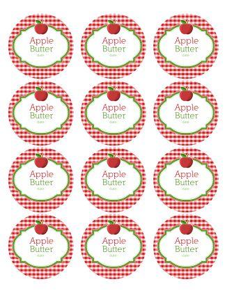 canning labels | Download the complete set of canning jar Apple Labels (zip)