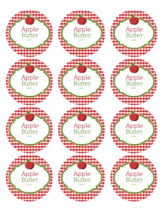 canning labels | Download the complete set of canning jar Apple Labels (zip)