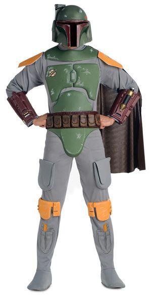 Naamiaisasu; Boba Fett Deluxe  Lisensoitu Star Wars Boba Fett Deluxe asu. Olkoon Voima Kanssasi. #naamiaismaailma