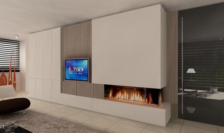 Ontwerpen Openhaarden / Gas / Hout / met realistische 3D voorstelling , Realisatie Roeselare, West Vlaanderen, Interieurarchitect  Dirk Lievens