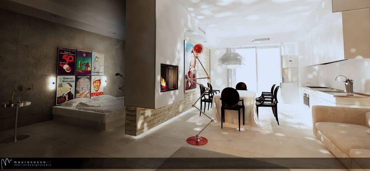 MONOLOCALE OPEN SPACE: Soggiorno in stile in stile Eclettico di maurococco.it