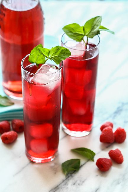 Raspberry Hibiscus Soda for a Baby Shower
