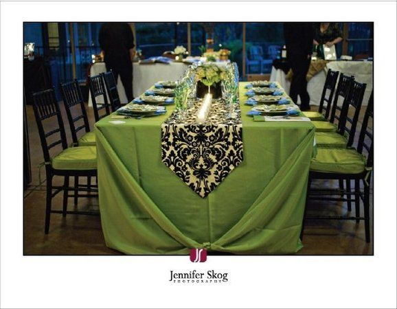 Black And Green Wedding Ideas | Green, Black, Table, Setting