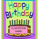 """THE BIRTHDAY GAME"" - YOUR WHOLE CLASS CELEBRATES AND LEARNS NEW SKILLS!  Use this fun Group Game to teach printed name recognition, birthdates, street names, and even phone numbers!  Candle template and song notes for a fun 6-note song are included.  Make a ""Living Birthday Cake"" - made out of children!  A great Language Arts tool to add to your Circle Time.  Write up their special 'birthday wishes' and send them home to your parents, for a glimpse of life in your classroom!  (7 pages)  $"