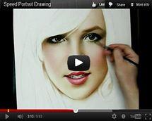 Рисование портрета видео