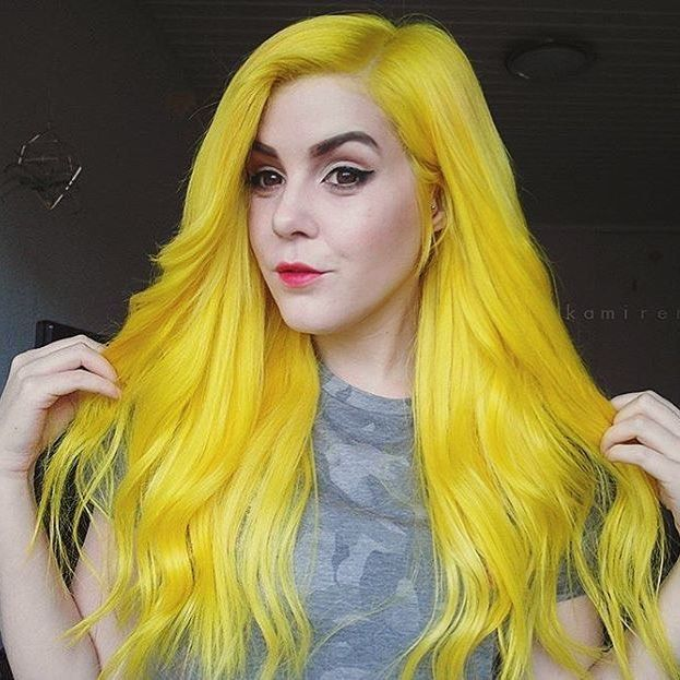 Lunar Tides Extra Vibrant Citrine Yellow Hair Dye On Thekamirenee Pinterest