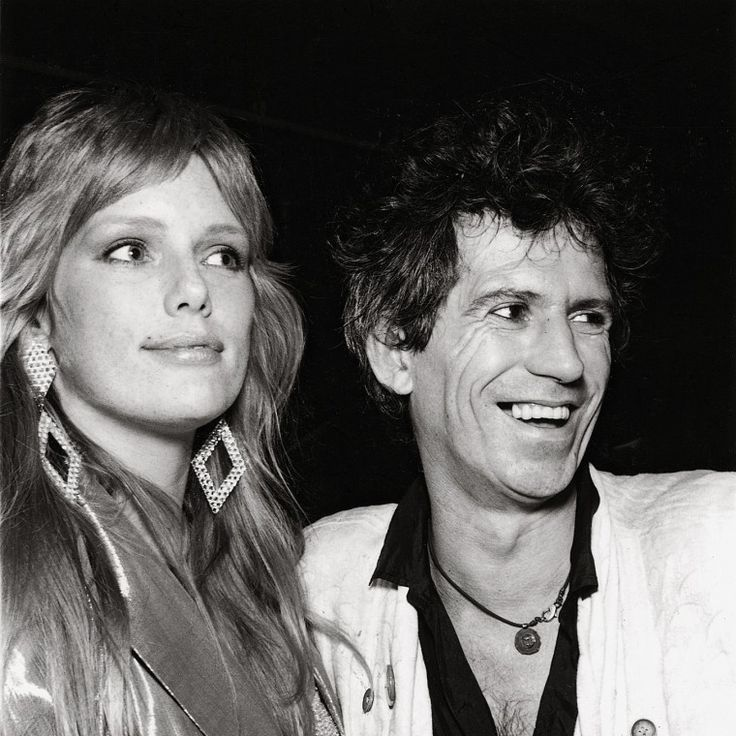 Patti Hansen and Keith Richards. -Wmag
