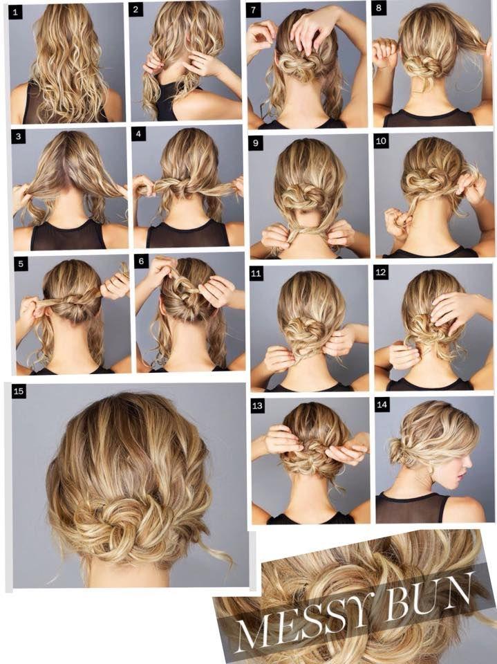 Messy Bun Pic Tutorial Geflochtene Frisuren Frisuren Fur Lockiges Haar Zopffrisuren