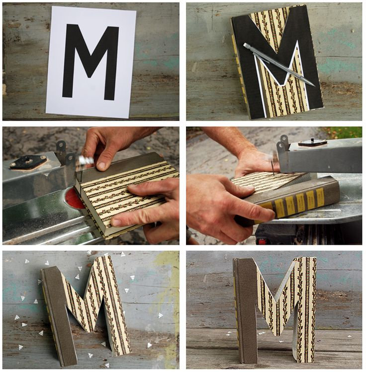 DIY BOOK LETTERS