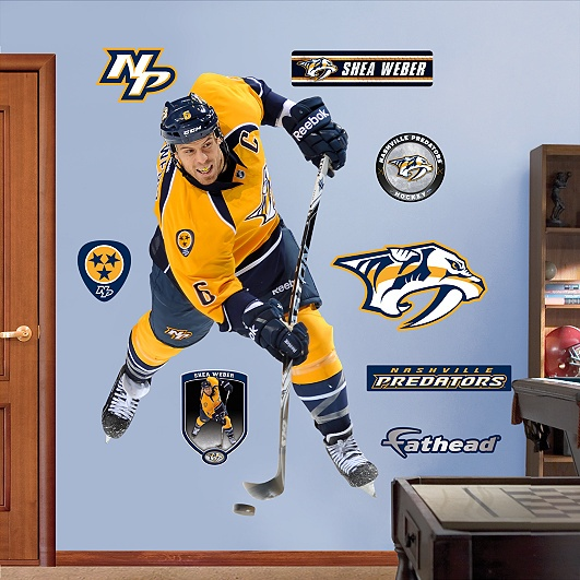 Shea Weber, Nashville Predators. Wonder how my hubby would feel about this.  I know I would love it!