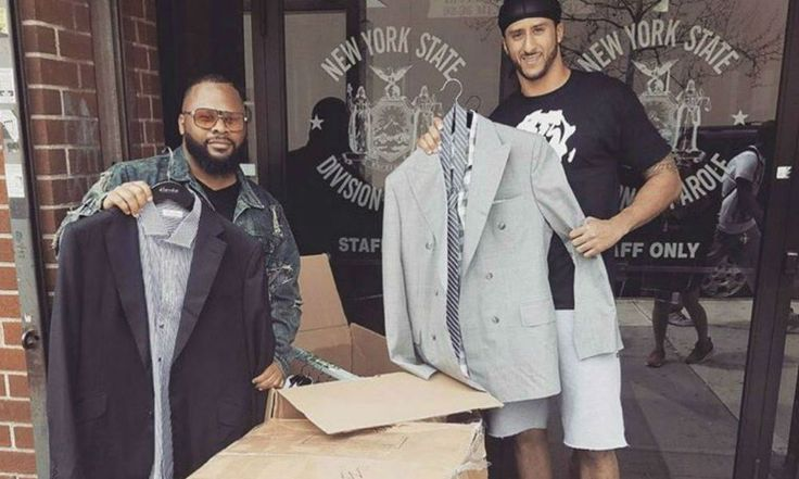 Colin Kaepernick donates custom-made suits outside a New York City parole office   For The Win