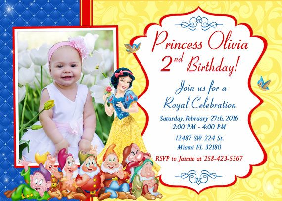 34 best Snow white invite images – Snow White Party Invitations