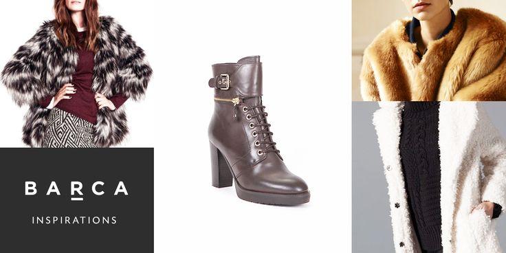 Pelle, fibbie, cerniere per questo #anfibio con #tacco BARCA per completare il tuo #look #fur based!