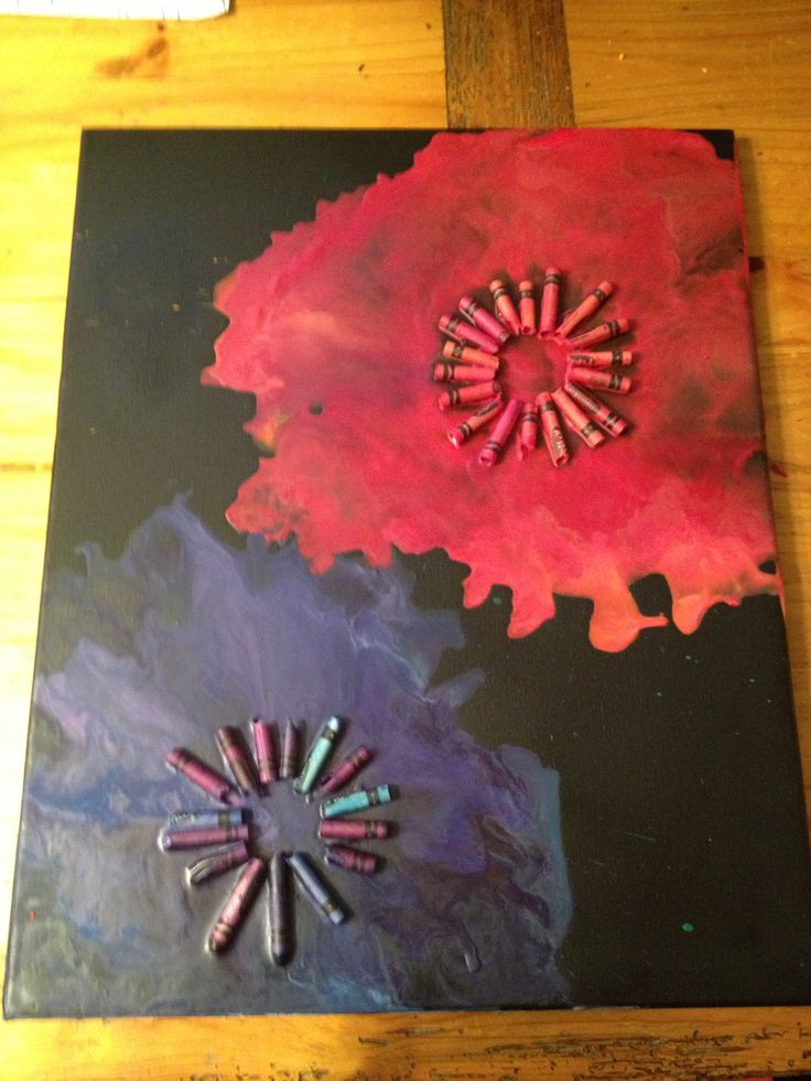 Crayon art flowers....happiness :)