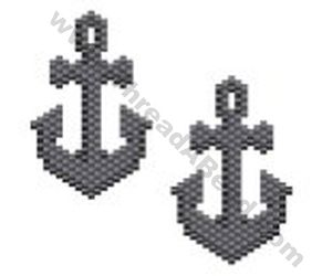 Ships Anchor Earring Bead Pattern By ThreadABead