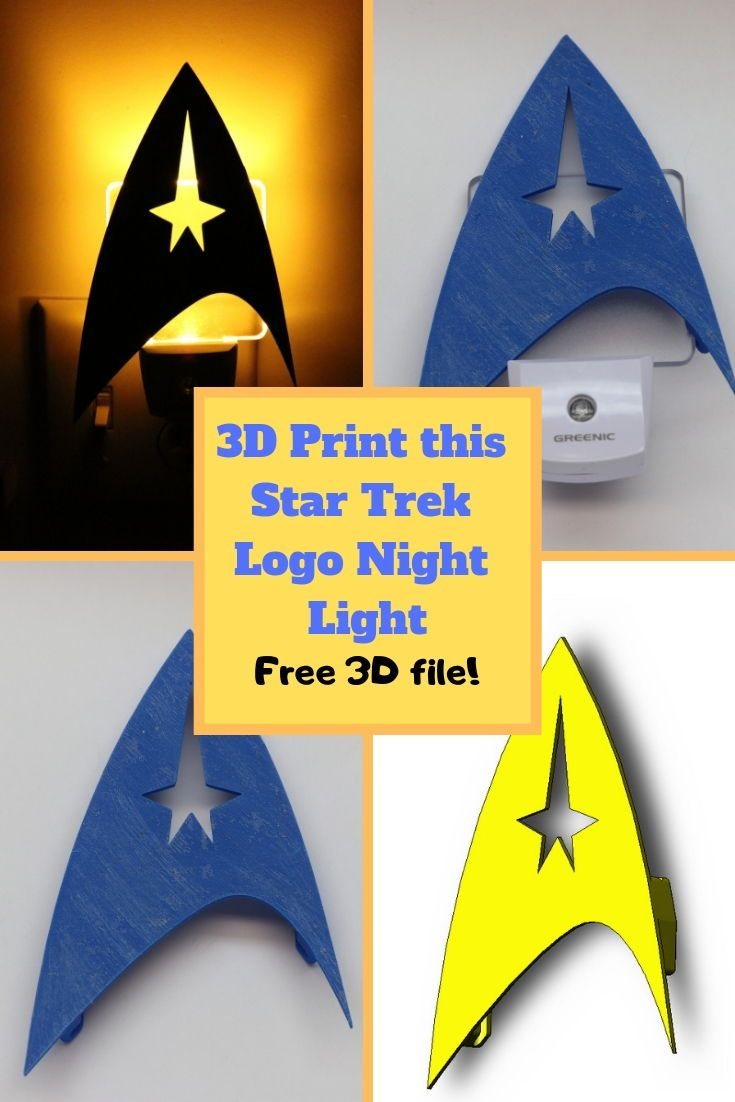 This Is A Diy 3d Printing Star Trek Design Download The Free Stl File And Make Yours Today They Look Aweso Star Trek Logo 3d Printing Diy 3d Printed Objects