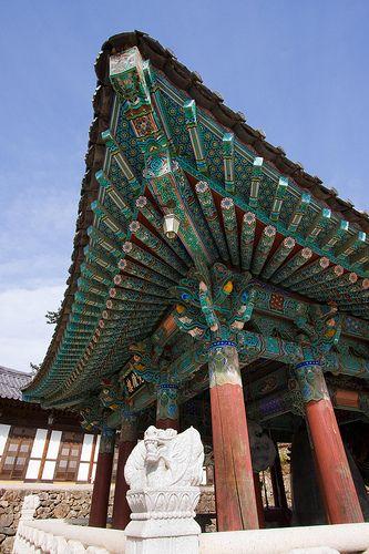Roof Angle, Haeinsa Temple, Korea