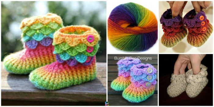 DIY4ever Crochet Crocodile Stitch Booties Patterns Video F 150×75 – 6 Cutest Cro…
