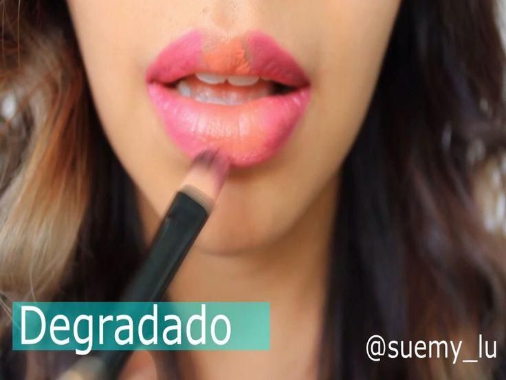 Efecto degradado en los labios con labiales indelebles #kejeljabibe #makeup