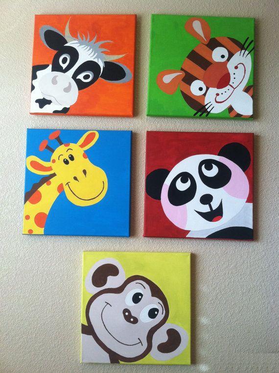 Coucou mignon singe... Peinture acrylique peint à la par memearts